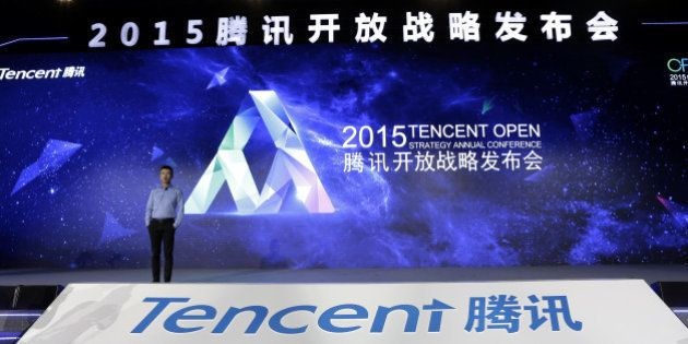 BEIJING, CHINA - APRIL 28: (CHINA OUT) Ren Yuxin, chief operating officer of Tencent, speaks during the...