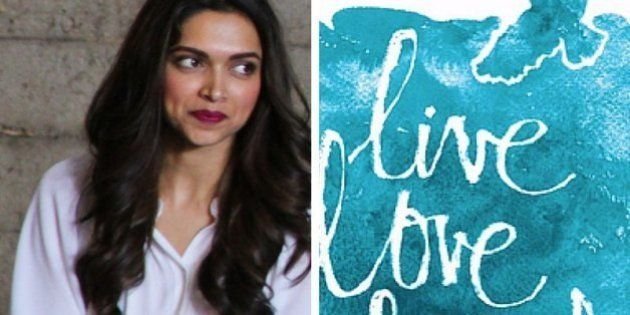 Deepika Padukone Unveils The Logo Of Her 'Live Love Laugh'