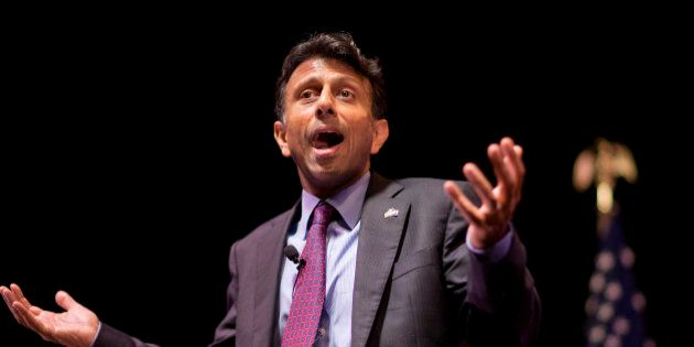 Republican presidential candidate, Louisiana Gov. Bobby Jindal, speaks at the RedState Gathering, Friday,...