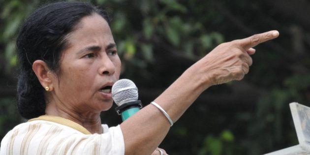 OLKATA, INDIA - AUGUST 27: TMC Supremo Mamata Banerjee is addressing the Trinamool Chhatra Parishad foundation...