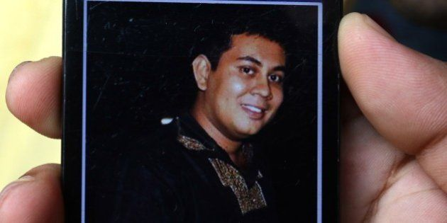 A photograph of Bangladeshi blogger Niloy Chakrabarti, who used the pen-name Niloy Neel, 40, is seen...
