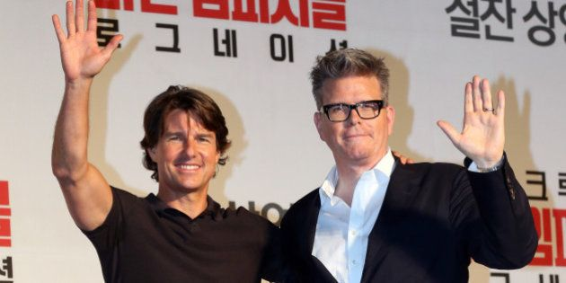 SEOUL, SOUTH KOREA - JULY 30: Tom Cruise and Christopher McQuarrie attend the movie 'Mission: Impossible...