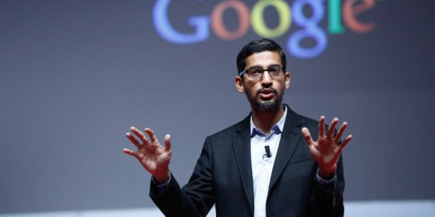 Sundar Pichai, senior vice president of Android, Chrome and Apps at Google Inc., speaks during a keynote...