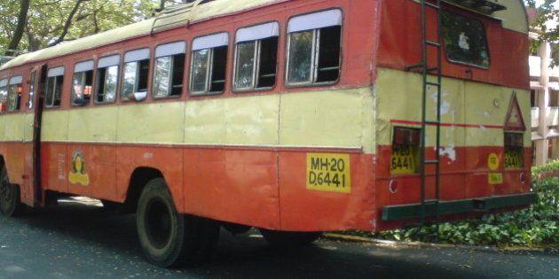 MSRTC (Maharashtra State Road Transport Corporation) Ordinary bus.