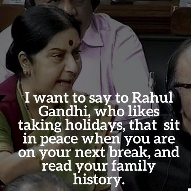 Gandhi, Jaitley, Swaraj Face Off: ICYMI, Here Are Five Quotes From The Lok Sabha