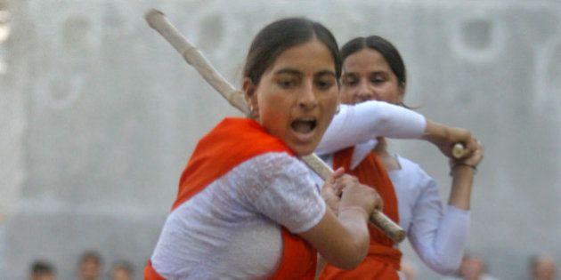 Madhu, a member of Durga Vahini, the womens wing of Hindu nationalist group Rashtriya Swayamsevak Sangh...