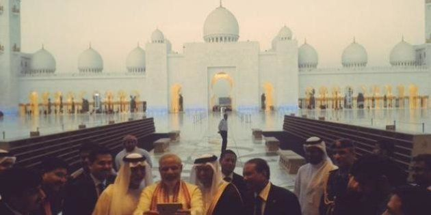 Narendra Modi Begins Two-Day UAE Trip With Selfie At The Historic Sheikh Zayed Grand