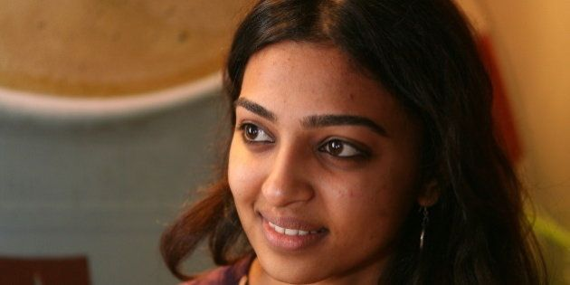 INDIA - JANUARY 21: Actress Radhika Apte at Cafe Coffee day in Kolkata, West Bengal, India. ( Antaheen...