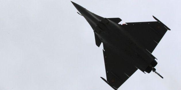 A Rafale jet fighter performs a demonstration flight in Merignac near Bordeaux, southwestern France,...