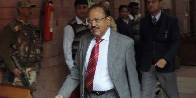 NEW DELHI, INDIA - FEBRUARY 5: (file photo) Indian National Security Advisor Ajit Doval at Home Ministry,...