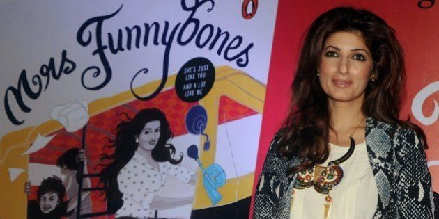 Indian Bollywood actress, columnist and interior designer Twinkle Khanna poses for a photograph during...