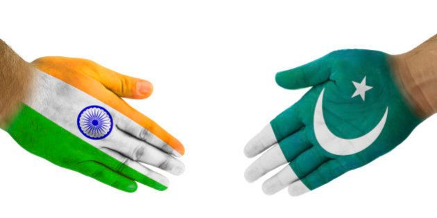 India-Pakistan Handshake For