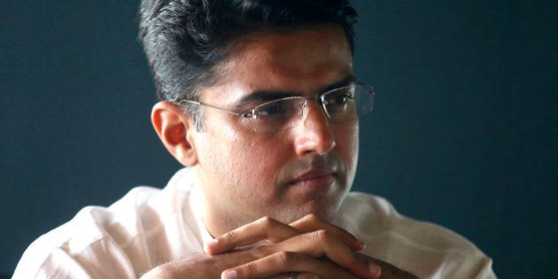 NEW DELHI, INDIA - JUNE 29: Congress MP from Ajmer, Sachin Pilot during an exclusive interview with Hindustan...