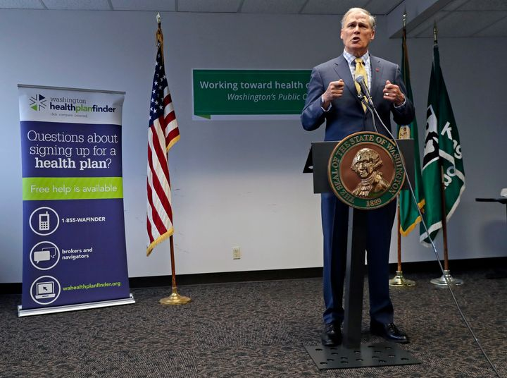 "Washington Gov. Jay Inslee (D) called for a ""public option"" in his state."