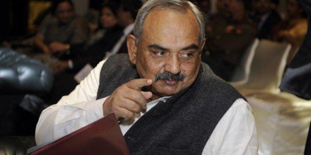NEW DELHI, INDIA - NOVEMBER 18: Rajiv Mehrishi, Finance Secretary and newly appointed governor on board...