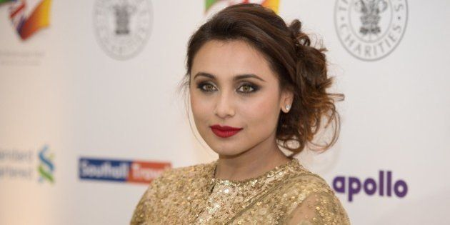 Bollywood actress Rani Mukerji attends the British Asian Trust dinner in central London on February 3,...