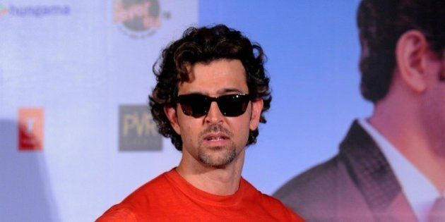 Indian Bollywood actor Hrithik Roshan poses during the launch of the T-Series Music Video song 'Dheere...
