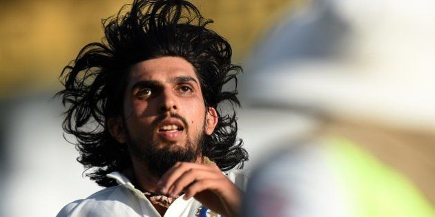 Indian cricketer Ishant Sharma runs during the second day of the second Test cricket match between Sri...