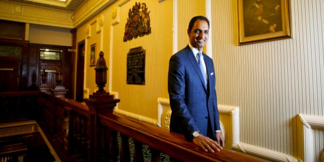 G.V. Sanjay Reddy, vice chairman of GVK Power & Infrastructure Ltd., poses for a photograph in Brisbane,...