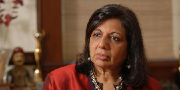 BANGALORE, INDIA AUGUST 27: Kiran Mazumdar Shaw, Chairman and Managing Director of Biocon Limited poses...