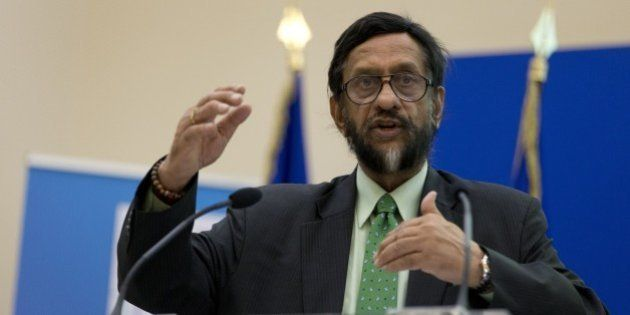 The head of the UN's climate science panel (Intergovernmental Panel on Climate Change - IPCC) Rajendra...