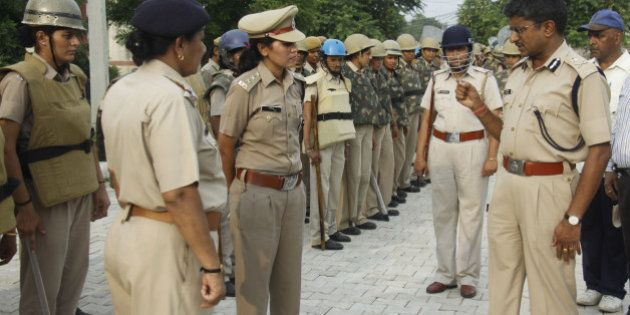 GURGAON, INDIA - JULY 17: Heavy police deployment around Maruti plant IMT Manesar on the eve of anniversary...