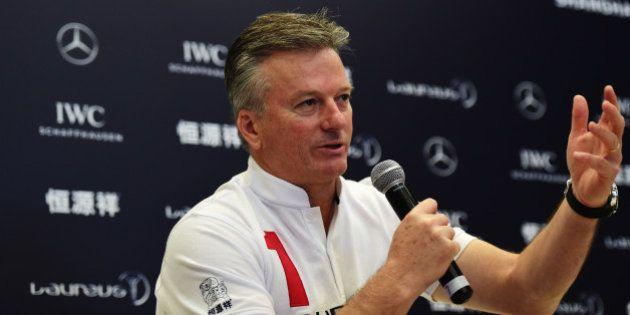 SHANGHAI, CHINA - APRIL 15: Laureus World Sports Academy member Steve Waugh during a media interview...