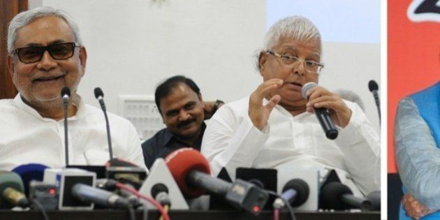 HuffPost-C-Voter Pre-Poll Survey Shows Advantage For Lalu-Nitish Combine In