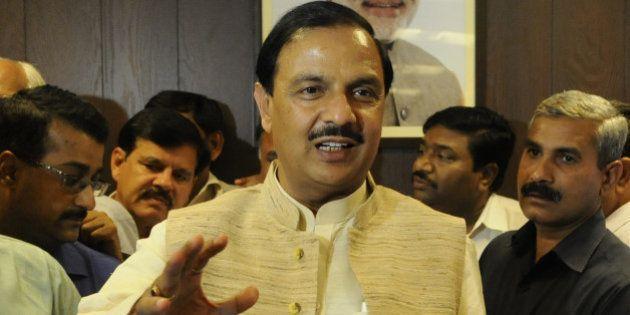 NEW DELHI, INDIA - NOVEMBER 12: BJP leader Mahesh Sharma takes charge as Minister Of State For Civil...