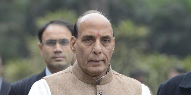 NEW DELHI,INDIA MARCH 03: Home Minister Rajnath Singh after the BJP Parliamentary Board meeting in New...