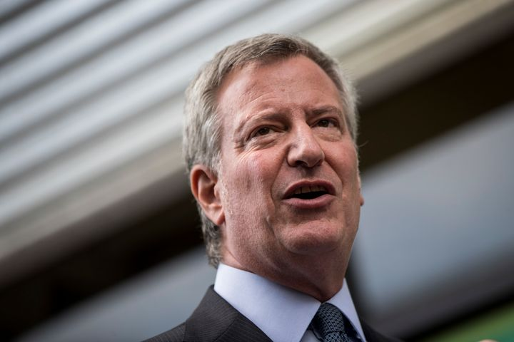 New York Mayor Bill de Blasio (D) said his plan would be available to the 600,000 city residents who currently are unins