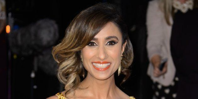 Anita Rani poses for photographers at the Strictly Come Dancing 2015 launch event at Elstree Film Studios,...