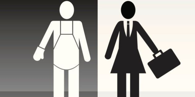Woman in the job and man on