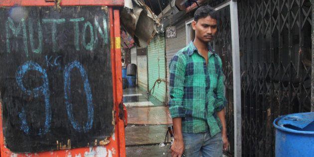 MUMBAI, INDIA - SEPTEMBER 10: Mumbai's mutton traders shut down the shops as four-day meat ban began...