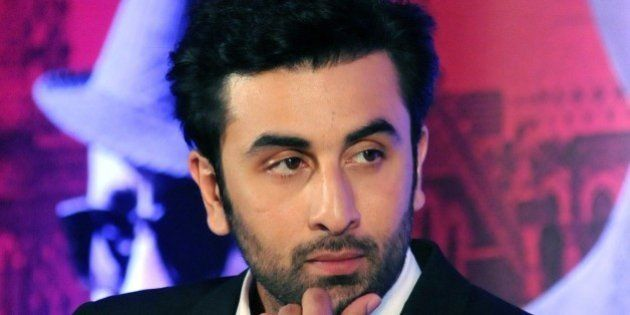 Indian Bollywood actor Ranbir Kapoor looks on during a promotional event for the forthcoming Hindi film...