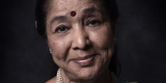 DUBAI, UNITED ARAB EMIRATES - DECEMBER 11: Singer Asha Bhosle is photographed at the 11th Annual Dubai...
