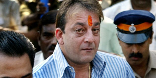 Bollywood actor Sanjay Dutt arrives to surrender before the Terrorist and Disruptive Activities (TADA)...