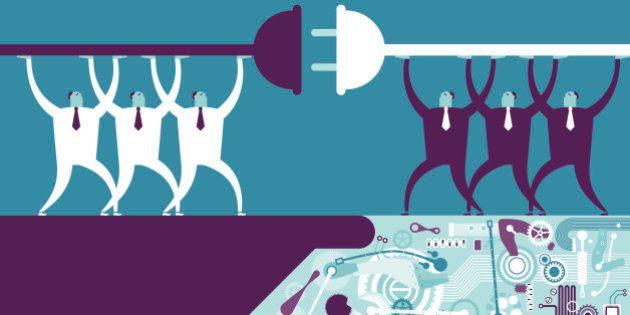Vector illustration - Robotic HandshakeVector illustration - Robotic