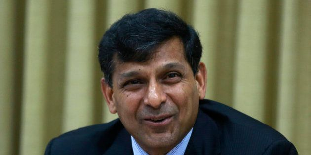 Reserve Bank of India (RBI) Governor Raghuram Rajan speaks during a press conference in Mumbai, India,...