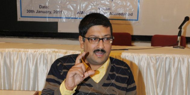 Javed Abidi (C), Honorary Director, National Centre for Promotion of Employment for Disabled People (NCPEDP),...