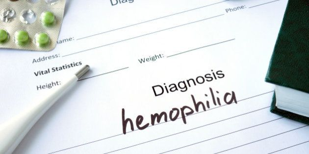 Diagnostic form with Diagnosis hemophilia and