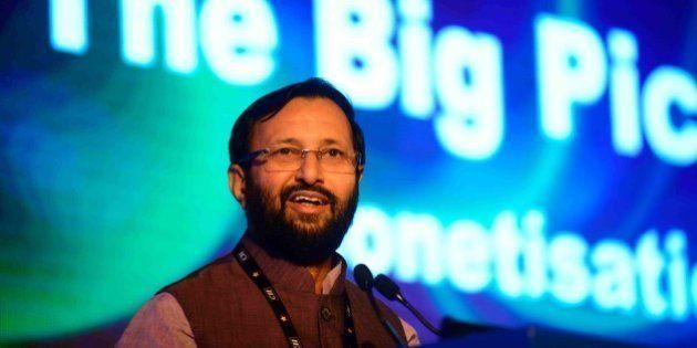 NEW DELHI, INDIA - SEPTEMBER 19: Prakash Javadekar, Minister Of State For Information & Broadcasting...