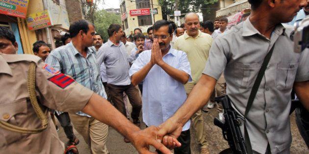 NEW DELHI, INDIA - JULY 18: Delhi Chief Minister Arvind Kejriwal and Deputy Chief Minister Manish Sisodia...