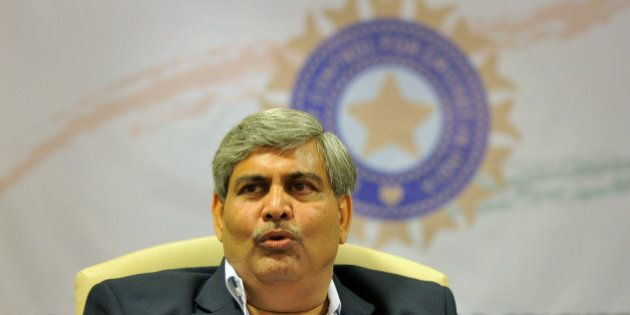 Shashank Manohar, president of the Board of Control for Cricket in India (BCCI), addresses a news conference...