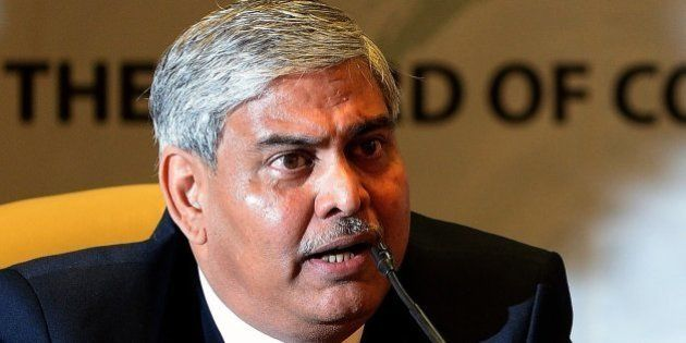 Board of Control for Cricket in India (BCCI) president Shashank Manohar speaks after taking charge at...