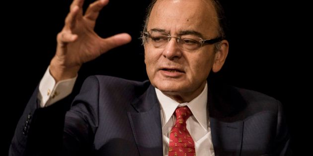 Arun Jaitley, India's finance minister, speaks during the Asia Pacific Investors Cooperation India summit...