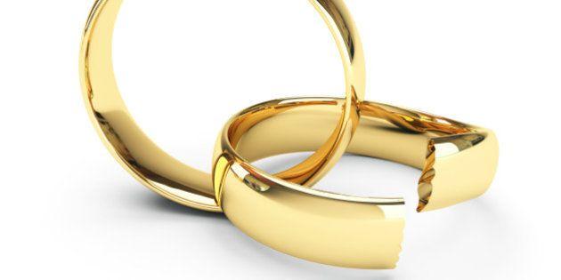 Broken gold wedding