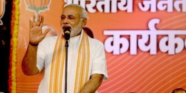 Shri Narendra Modi addressing BJP Karyakarta Sammelan in