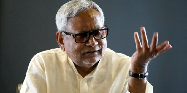 NEW DELHI, INDIA - AUGUST 19: JDU leader and Bihar Chief Minister Nitish Kumar during an interview at...