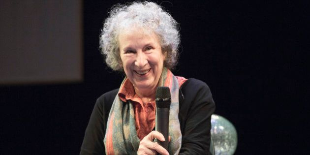 VANCOUVER, BC - MAY 22: 'Pauline' librettist Margaret Atwood speaks at the CIty Opera Vancouver's 'Pauline'...
